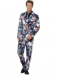 Mr. Zombie Herrenanzug Halloween-Anzug bunt