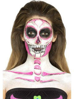 Flüssiges Latex Skelett-Motiv Halloween-Make-up bunt