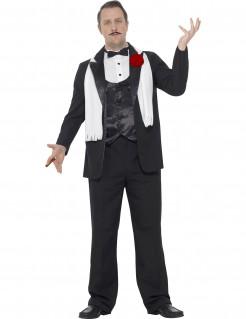 Gangster-Kostüm Herren schwarz-weiss