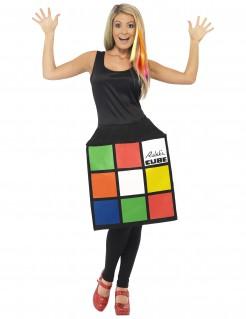 Zauberwürfel-Damenkostüm Rubik´s Cube™ bunt
