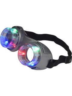Leuchtende Fliegerbrille