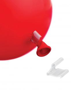 Luftballon-Verschlüsse Ballon-Zubehör 50 Stück transparent