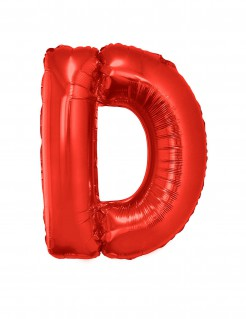 Riesiger Buchstaben-Luftballon D rot 102cm