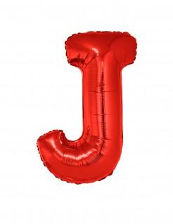 Riesiger Buchstaben-Luftballon J rot 102cm