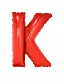 Riesiger Buchstaben-Luftballon K rot 102cm