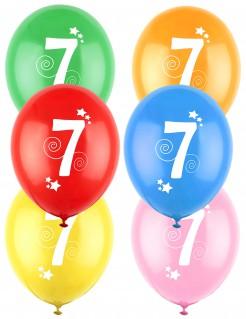 12 verschiedenfarbige Ballons für Siebenjährige