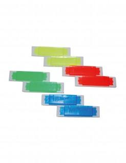 Mini-Mundharmonika-Set 8-teilig bunt 10x2x0,3cm