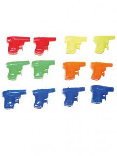 Mini-Wasserpistolen 12 Stück bunt 6cm