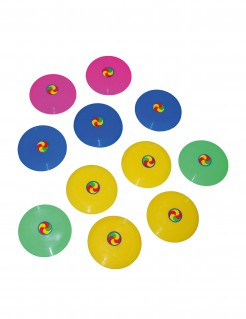 12 bunte Mini-Frisbees 7 cm
