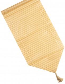 Tischläufer Bambuseffekt beigefarben 28x150cm