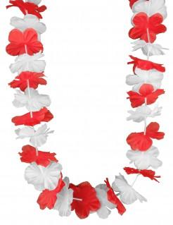 Hawaiikette mit Dänischen Landesfarben rot-weiss