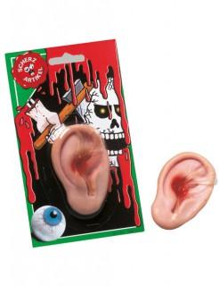 Abgerissenes Ohr Schreckartikel Halloween-Deko hautfarben 7x4,5cm