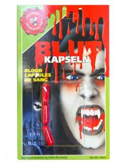 Kunstblut Blutkapseln 3 Stück rot/ 600mg pro st.