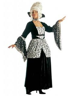 Rokoko Marquise Damenkostüm schwarz-weiss