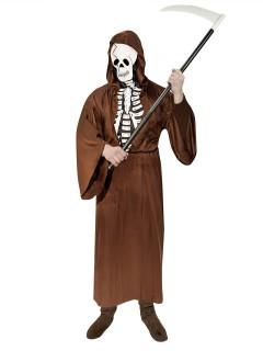 Sensenmann Skelett Herrenkostüm braun-weiss