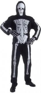 Grimmiges Skelett Halloween-Kostüm schwarz-weiss