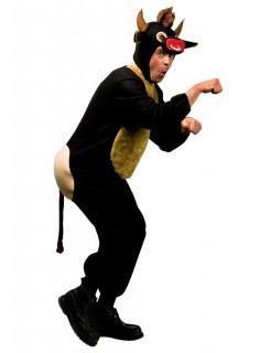 Stier Tierkostüm Karneval braun-beige