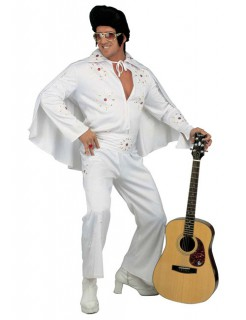 Rock n Roll Star Kostüm Deluxe weiss