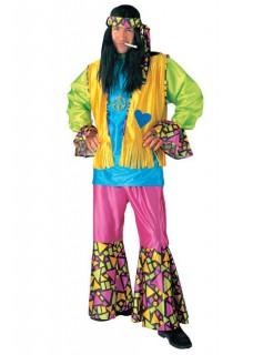 Hippie Karneval Herren-Kostüm bunt