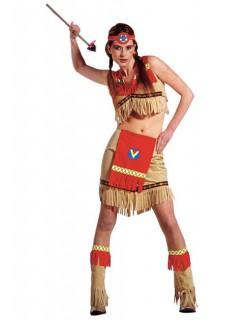 Indianerin Kostüm rot-beige