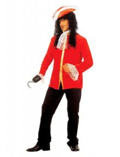 Piraten Rüschenhemd rot-gold-weiss