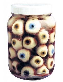 Eingelegte Augen Schreckartikel Halloween Party-Deko bunt 14cm
