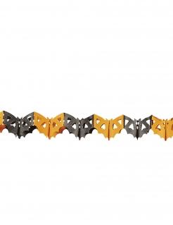 Fledermaus Girlande Halloween Partydeko orange-schwarz 3m