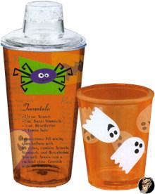 Halloween Cocktail-Shaker Party-Gadget transparent-orange 500ml