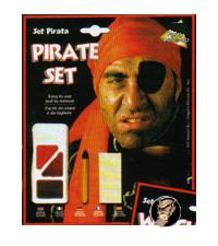 Piraten Schminkset schwarz-braun-rot