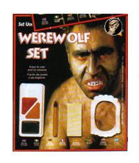 Werwolf Halloween-Schminkset 6-teilig bunt