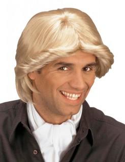 70er-Jahre Föhnfrisur Herren-Perücke blond