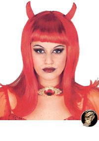 Sexy Teufelin Perücke rot