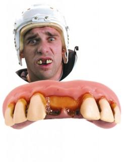 Hockeyspieler Zähne Fake-Zähne rosa-beige