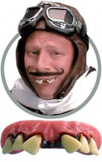 Zahnlücke Scherzgebiss Aviator rosa-weiss