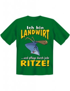 Funshirt Ich bin Landwirt Frivoles T-Shirt grün-gelb-weiss