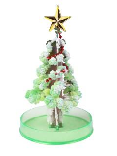 Wachsender Weihnachtsbaum Weihnachtsdeko grün-silber 15cm