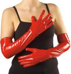 Vinylhandschuhe rot