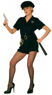 Polizistin Damenkostüm marineblau