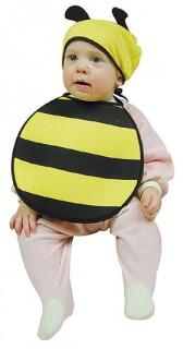 Biene Babykostüm Set schwarz-gelb