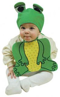 Baby Fröschchen Kostüm Set Babykostüm grün-gelb