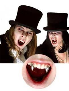 Vampirzähne Fangzähne Halloween-Accessoire silber