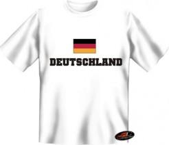 Deutschland T-Shirt Flagge weiss-bunt