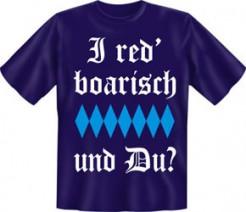 T-Shirt I red boarisch blau-weiss