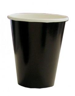 Pappbecher Halloween Party-Deko 8 Stück schwarz 200ml