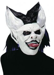 Evil Joker Horror Clown Maske weiss-schwarz