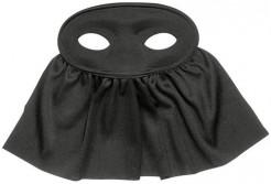 Augenmaske mit Tuch schwarz
