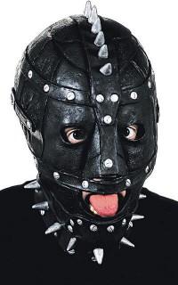 SM Maske mit Nieten schwarz-silber