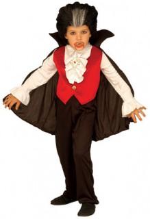 Dracula-Kinderkostüm Halloweenkostüm schwarz-rot