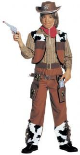 Cowboy Kinderkostüm braun-schwarz-weiss