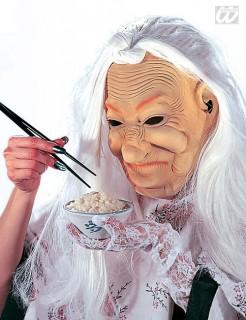 Alte Chinesin Maske hautfarben-weiss